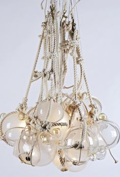 Beachy keen chandelier. Totally nautical (or knotical)...