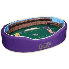 Stadium Cribs LSU Tigers Football Stadium Pet Bed Maybe justin will agree to the doggie!