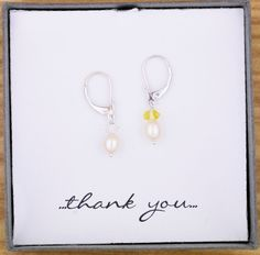Wedding Bridesmaid Gift Present, Genuine Colored Crystal Drop Pearl Earrings,choice of colors,925 Solid Sterling Silver Leverback Drops by ThePinkLamShop on Etsy