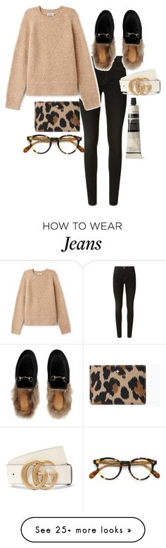 """""""Untitled #23144"""" by florencia95 on Polyvore featuring J Brand, Kate Spade, Gucci, Oliver Peoples and Aesop"""