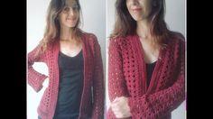 Helloooo Crocheters Mais um Cardigan, dessa vez pra minha Sister, (beijo Anita) kkkkkk Nesse utilizei 3 novelos de Charme e agulha 3,5 para uma peça de 61 cm...