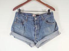 PLUS SIZE High Waisted Denim Shorts  Levi's by TomieHarleneVintage, $21.99 #levis #levistrauss