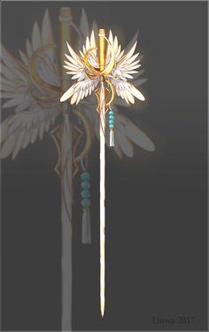 (Closed) Seraphim Sworld Adopt Auction by Liowa on DeviantArt Fantasy Sword, Fantasy Weapons, Fantasy Art, Fantasy Character Design, Character Art, Dessin Animé Lolirock, Armas Ninja, Sword Design, Anime Weapons