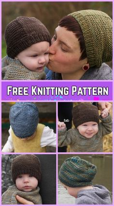Knit Barley Beanie Hat Free Knitting Pattern-All Sizes