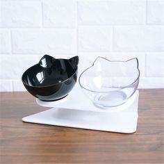 Click The Pict For Detail Non-slip Cat Double Bowls with Raised Stand Pet Food Water Bowl Cats Dog Feeder Pets Supplies Food Bowl, Cat Water Bowl, Pet Shop Online, Les Croquettes, Eat Slowly, Cat Feeder, Bowl Designs, Doja Cat, Pet Bowls