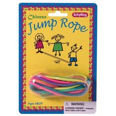 Chinese jump rope - really fun, inexpensive and a new experience for a lot of kids