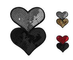 Süßes Herz-Paillettenmotiv mit Hot-Fix-Beschichtung. Erhältlich auf www.paillettenshop.de #pailletten #valentinstag #herzen #burlesque #pinup #hearts #herzen #valentines #hotfix #aufnäher #patch #patches #bügelmotiv