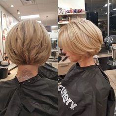 20 chic and best layered bob hairstyles Trend Bob Fr .- 20 chic and best layered bob hairstyles - Bob Style Haircuts, Short Layered Bob Haircuts, Stacked Bob Hairstyles, Medium Bob Hairstyles, Hairstyles Haircuts, Hair Short Bobs, Short Blonde Bobs, Long Bobs, Braid Hairstyles