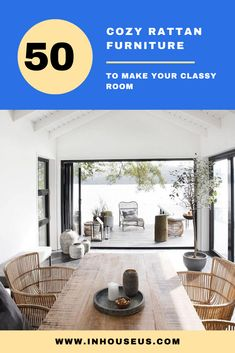 47 Comfortable Rattan Furniture to Make Your Classy Room #furniture #rattanfurniture Rattan Furniture, Furniture Design, Household, Classy, Indoor, Living Room, Outdoor Decor, Home Decor, Interior