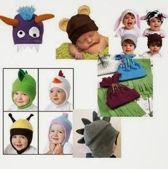 Craftdrawer Crafts: Easy to Sew Free fleece animal hat patterns for baby and children
