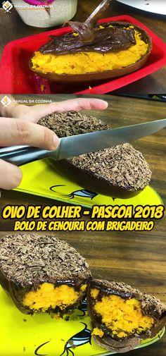 ESSE ANO O OVO DE COLHER COM BOLO DE CENOURA E BRIGADEIRO ESTÁ SENDO UM ESTOURO DE VENDAS, JÁ TENHO VARIAS ENCOMENDAS! VEJA COMO FAZER… #pascoa #pascoa2018 #ovodecolher #ovotrufado #ovodepascoa #bolodecenoura #cenoura #bolo #chocolate #manualdacozinha #receita #alexgranig #sobremesa #doces #comida #culinaria #gastronomia #chef #aguanaboca #cadernodereceitas