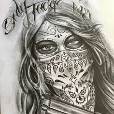 Pin by michael garcia on art badass drawings самурайское тату, эскиз тату, Kunst Tattoos, Skull Tattoos, Body Art Tattoos, Girl Tattoos, Sleeve Tattoos, Art Chicano, Chicano Drawings, Badass Drawings, Gangsta Tattoos