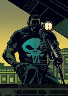 the punisher! Daredevil Punisher, Punisher Comics, Punisher Skull, Deathstroke, Hq Marvel, Marvel Dc Comics, Marvel Heroes, Captain Marvel, Comic Book Characters