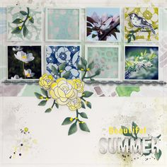 by Elina's Arts and Crafts Layout for Creative Scrappers DT: Beautiful Summer http://www.artsandcraftswithlove.com/