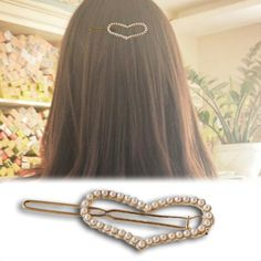 New 2016 fashion Hot Sale Womens Hairpin Pearl Heart Beauty Barrette Lady Crystal Rhinestone Hair Clip Bow Accessories-in Hair Accessories from Women's Clothing & Accessories on Aliexpress.com | Alibaba Group