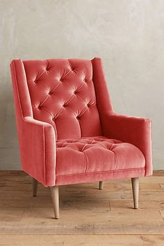 Velvet Booker Armchair - anthropologie.com  LOVE the color