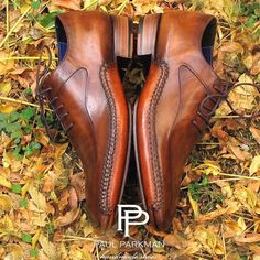 Men's Luxury Shoes by PAUL PARKMAN — Paul Parkman Opanka Stitched Brown Handmade... featuring and polyvore,