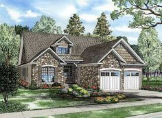 House Plan 62190   Bungalow Traditional Plan with 1875 Sq. Ft., 4 Bedrooms, 3 Bathrooms, 2 Car Garage