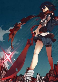 *sigh* Just saw the first 3 episodes of Kill la Kill... All I can conclude so far: This is too epic for my little brain to comprehend-- I have a headache. -w- ...lovin' the whole sailor fuku concept, tho~