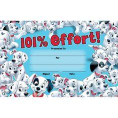 101 Dalmatians 101% Effort Recognition Awards   Eureka School Classroom Supplies, Classroom Themes, Eureka School, Disney Classroom, Recognition Awards, Class Decoration, 101 Dalmatians, Best Teacher, Third Grade