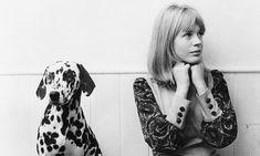 English pop singer Marianne Faithfull with her pet Dalmatian, 1964. Photograph: John Pratt/Getty Images