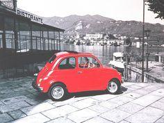 Orta San Giulio, Piemonte La Topolino amaranto (old style photo) - Il 1957 è l'anno che segna la nascita della Fiat Nuova 500. Il progettista fu l'ingegner Dante Giacosa    #TuscanyAgriturismoGiratola