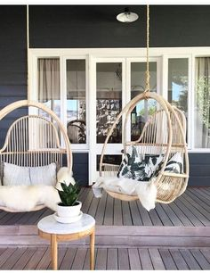 hanging egg chairs #EggChair