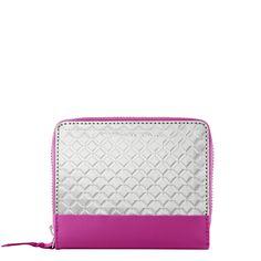 Mini Zipper Wallet, Berry