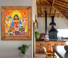Nossa Senhora Aparecida, Arte Naif por Andreza Katsani Painting, Frame, Home Decor, Religious Art, Frames, Picture Frame, Decoration Home, Room Decor, Painting Art
