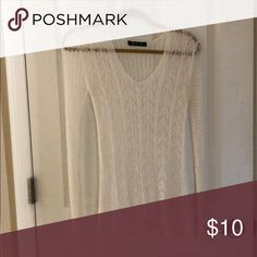 Lace looking long sleeve Lace looking cute with a tank underneath Dottie Couture Tops Tees - Long Sleeve