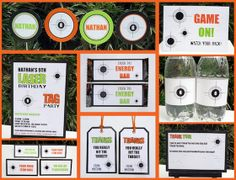 printable laser tag party templates