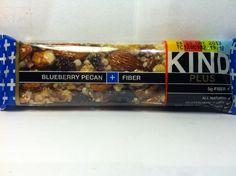 Crazy Food Dude Review: KIND Plus Blueberry Pecan + Fiber Bar