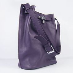 bb67c3f79060 Hermes Picotin Herpicot Purple Cowskin Leather Handbags Silver Hardware
