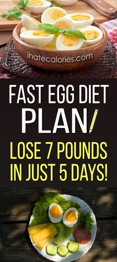 Fast Egg Diet Plan! Lose 7 Pounds In Just 5 Days! - I Hate Calories