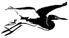 Snowy Egret Stencil in various sizes by PearlDesignStudio on Etsy