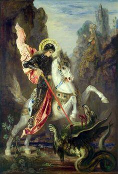 Moreau, Gustave (b,1826)- St George Murders Pathetic Dragon, 1889