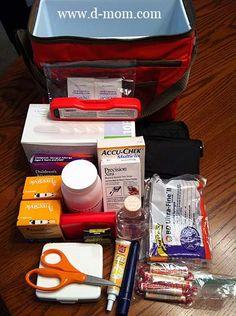Packing Diabetes Supplies