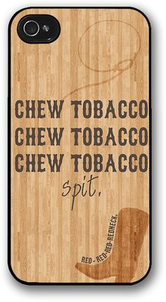 October Wish — Chew Tobacco Spit iPhone Case