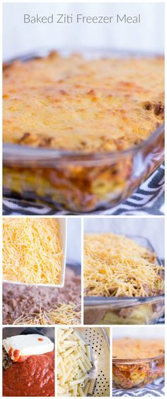 Baked Ziti Easy Freezer Meal! Homemade Dinner Recipes that save you Time and Money! Find More Freezer Meals Here --> http://www.passionforsavings.com/freezer-meals/