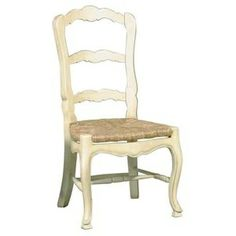 French Country Ladderback Side Chair - Set of 2.