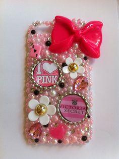 Victoria's Secret PINK iPhone 5 bling case by sparklingskye, $38.00
