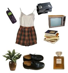 """""""Vacation"""" by ohwellitriedx on Polyvore featuring Erika Cavallini Semi-Couture, Izod, Dr. Martens and Chanel"""