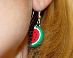 watermelon earrings diy