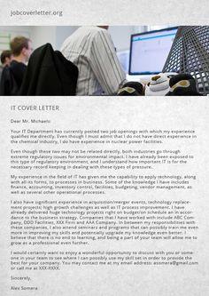 cover letter for it jobs job cover letter - Covering Letter For Jobs