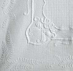 Whitework Trapunto closeup  by Karen McTavish.