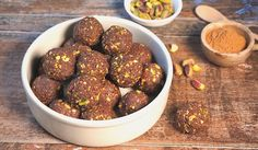Chocolate Fudge Bites with Pistachio Chips | Paleo | The JOYful Table