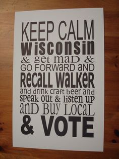 Cheers to local Madison, WI shop Anthology for this perfect poster, spotted in their store on State Street. Have never seen so many political signs as I did this past wknd! Political Signs, From Where I Stand, State Street, Buy Local, Sign Design, Craft Beer, Keep Calm, Wisconsin, Give It To Me