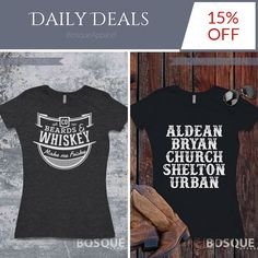 Today Only!  this item.  Follow us on Pinterest to be the first to see our exciting Daily Deals. Today's Product: Sale -  Beards and Whiskey Make me Frisky T-Shirt Country Southern Style Tee - Ink Printed Buy now:  #country #countrymusic #fashion #tshirts #countrygirl #etsy #etsyshop #etsyfinds #etsygifts #musthave #loveit #photooftheday #picoftheday #love #OTstores #smallbiz #sale #dailydeal #dealoftheday #todayonly #instadaily