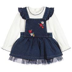 f8967af8df Baby Girls Denim Dress Set for Girl by Mayoral Newborn. Discover more  beautiful designer Dresses