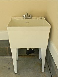 Best Utility Sink For Garage : COSTCO $299 Utility sink for garage bathroom. Not first choice, but ...